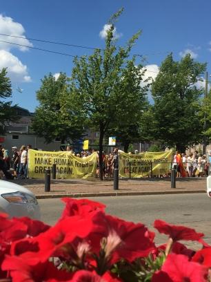 Helsinki Anti-Trump Protest