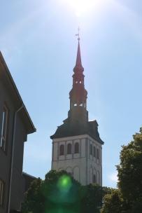 tallinn, church, skyline, city, estonia