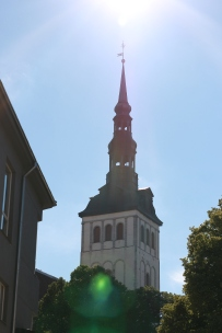 tallinn, church, skyline, city, estonia