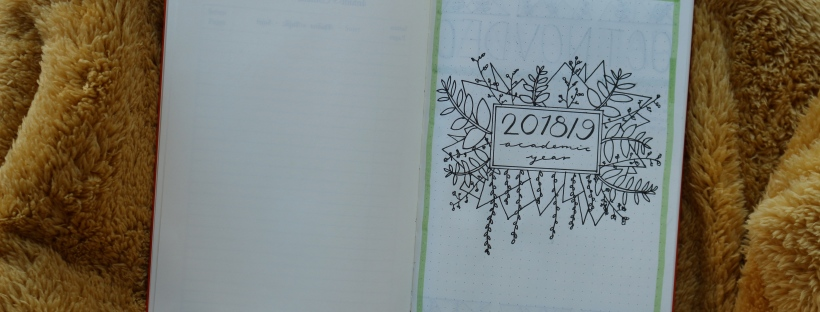 2018/9 academic year bullet journal title page