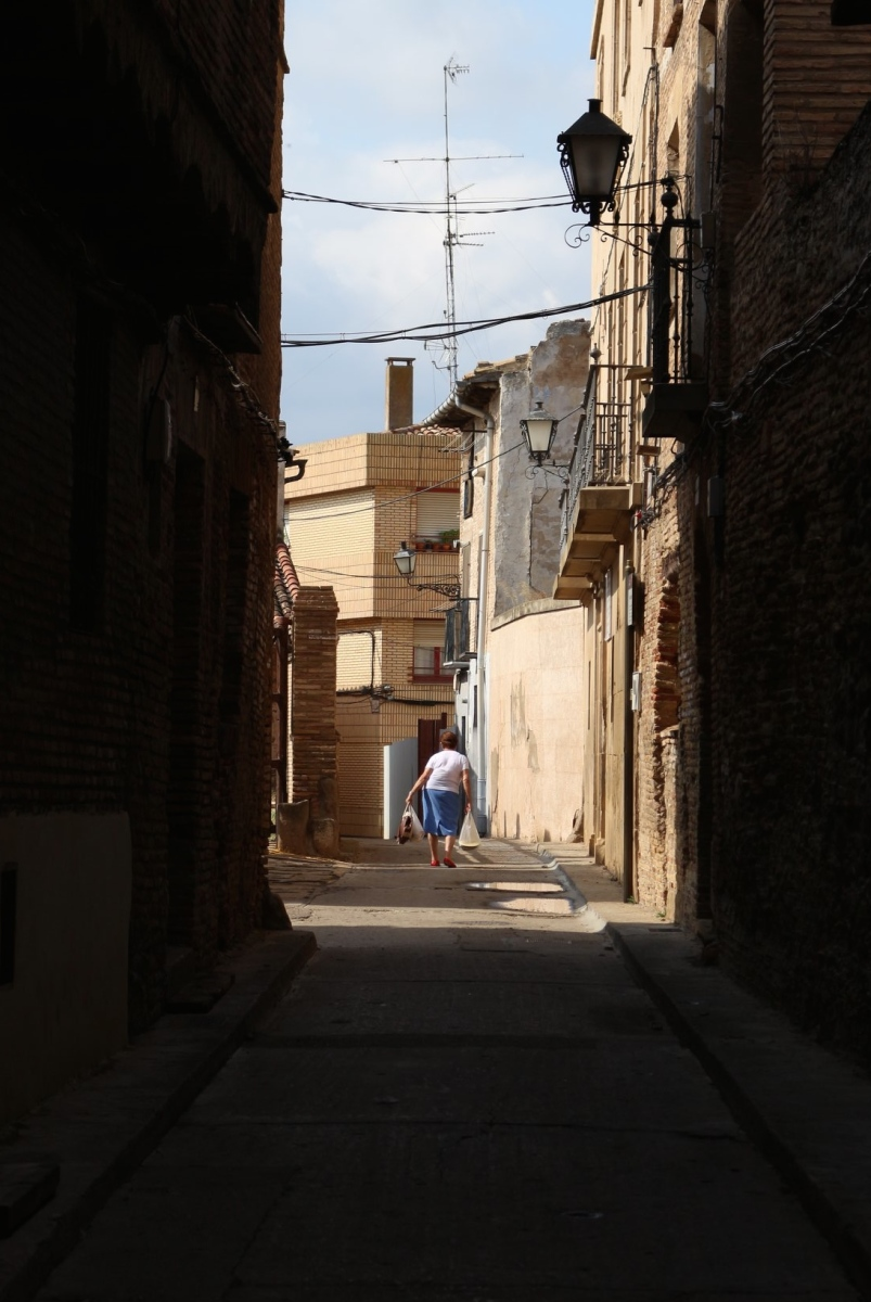 shadows old town spain street photography