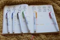 weekly spread autumn doodles setup