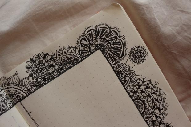 mandala doodles bullet journal spread